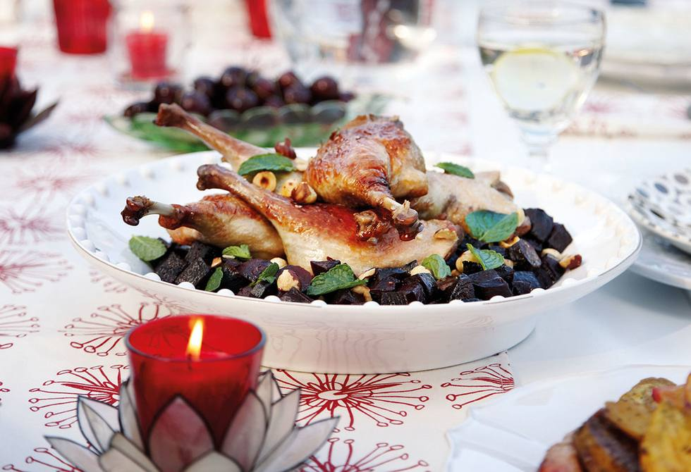 Christmas duck & allspice beets