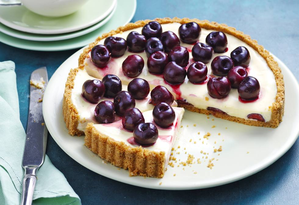 Cherry lime tart