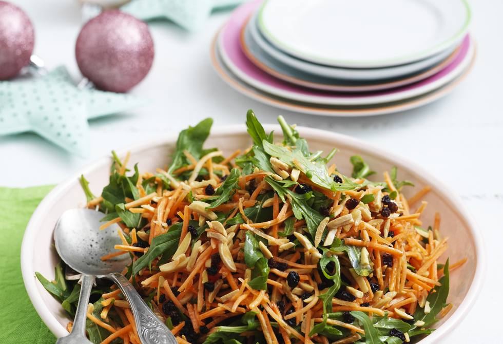 Carrot, almond and currant salad