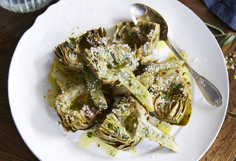 Artichokes in garlic butter