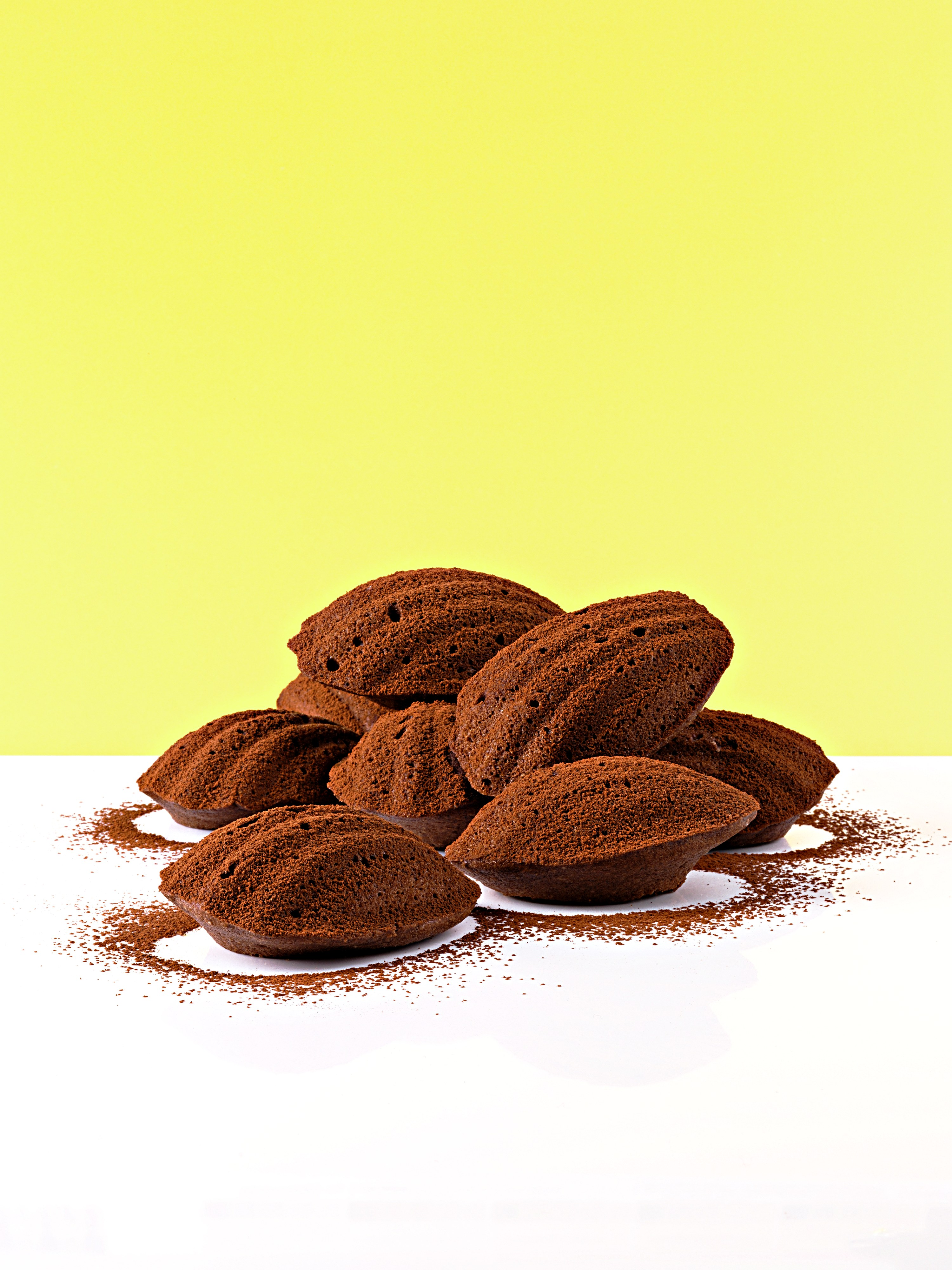 Chocolate and Frangelico madeleines