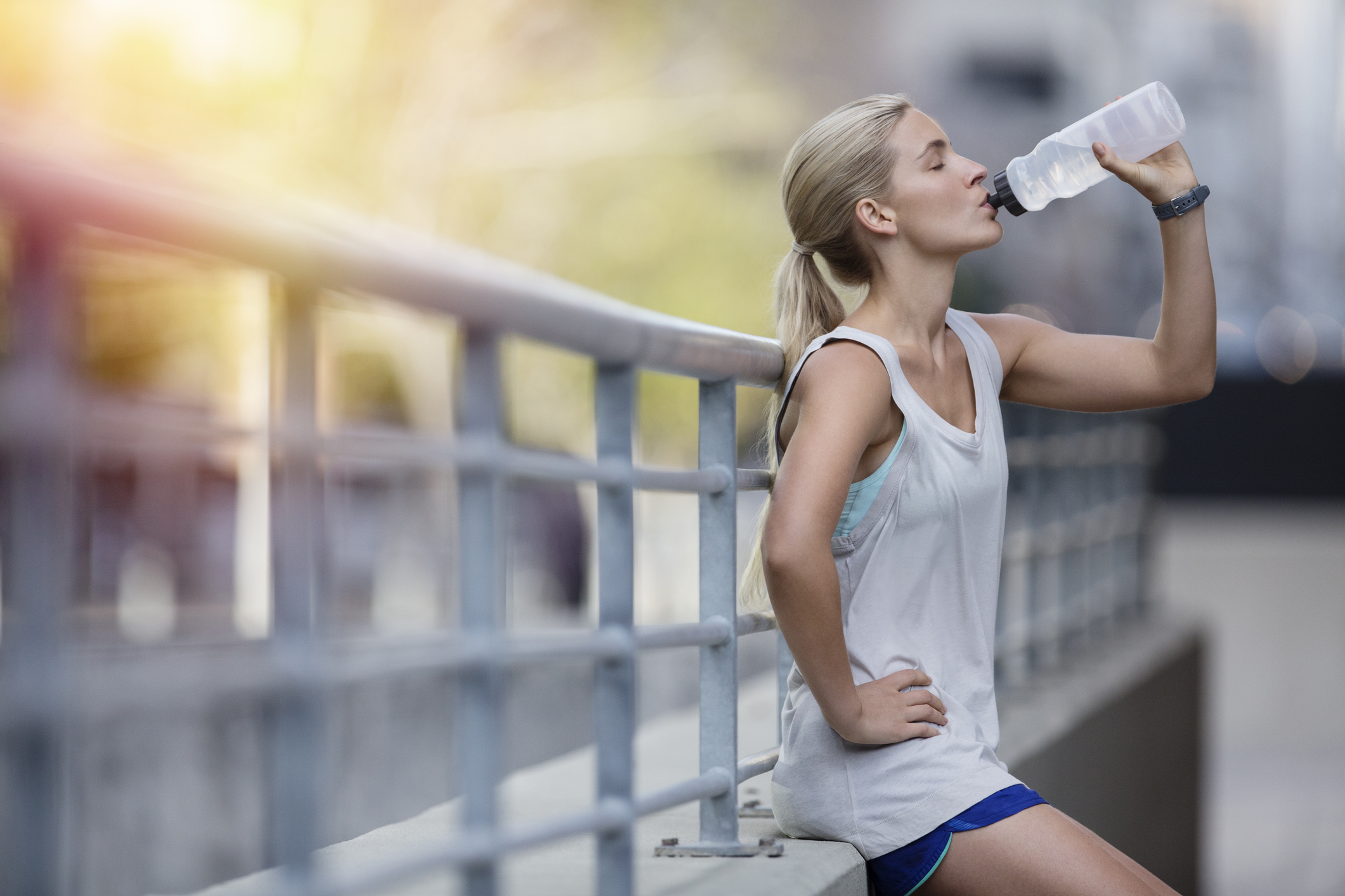 When it comes to staying healthy as you age, it's important to stay hydrated. Photo credit: Sam Edwards/Getty Images