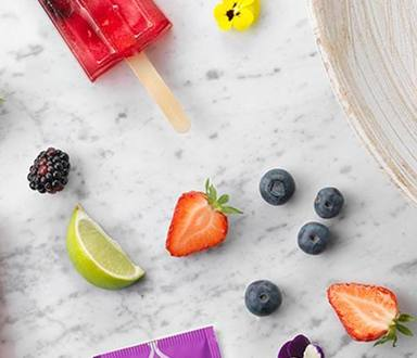Charmante Cassis Ice Pops