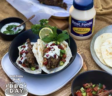 Greek Lamb Tacos with Garlic Whipped Feta