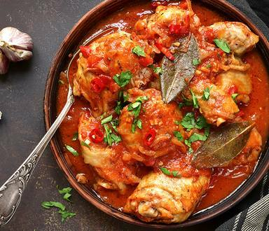 Spicy Chicken Stew with Vegetables