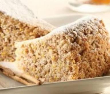 Pastel de nueces con miel y naranja