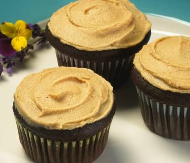 Chocolate Cinnamon Cupcakes with Peanut Butter Frosting