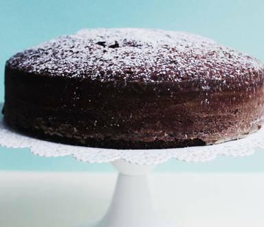 Torta de chocolate y castañas