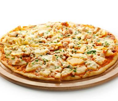Pizza cu carne de pui