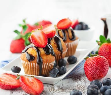 Muffins con Fresa y Chocolate