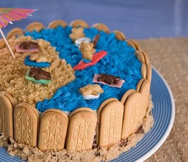 Day-At-The-Beach Ice Cream Cake