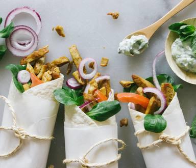 Vegane Wraps mit 1001 Geschnetzeltem und Tzatziki