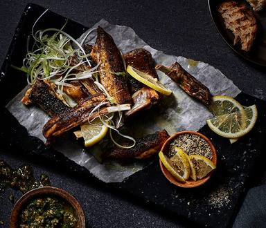Crispy Karoo Lamb Ribs With Mint Pesto