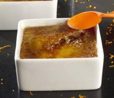 Crème brûlée à la crème de marrons et aux clémentines