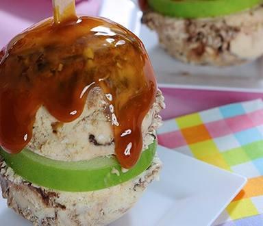 Sharable Caramel Apple Sundaes