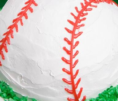 Baseball Ice Cream Cake