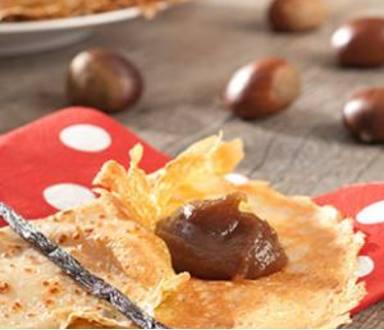 Crêpes à la crème de marrons sans gluten
