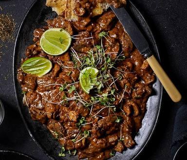 Brandy Flambéd Chicken Livers On Roosterkoek