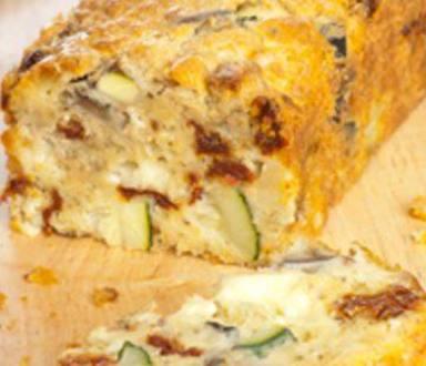 Cake aux légumes du soleil et à la mozarella