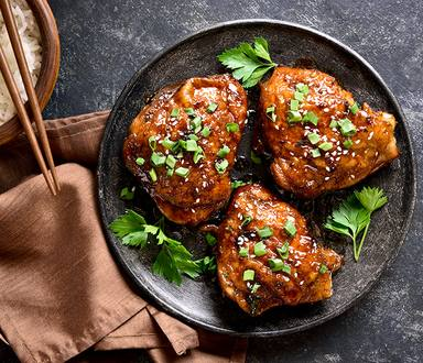 Baked Chicken Thighs with Herbs and Feta