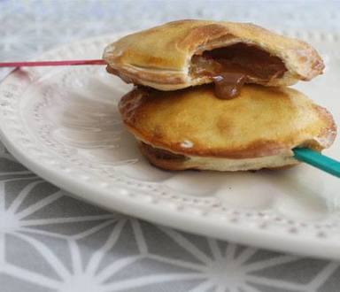 Tarteletas de manzana y dulce de leche