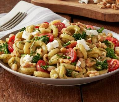 Roasted Vegetables & Fresh Pesto Penne Pasta