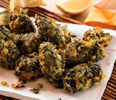 Buñuelos de espinaca sin gluten