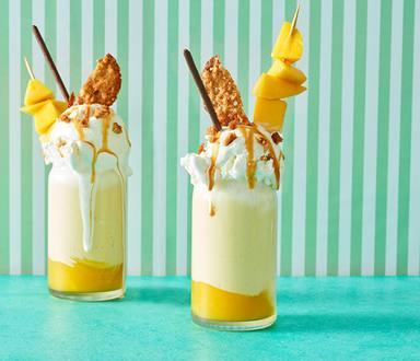Freakshake maken met mango en ijstopping