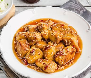 Pollo Glaseado Estilo Oriental