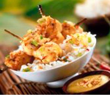 Brochettes de poulet à la sauce satay