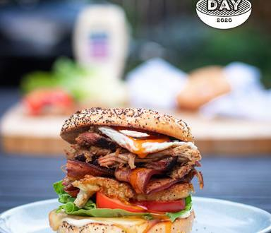 Loaded BBQ BLT with Pulled Pork and Best Foods Aioli