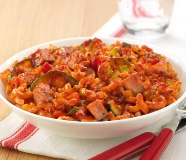 Macaroni met verse groenten en Smac