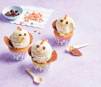 Paasijskuikentjes met cupcake