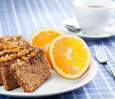 Budiín de naranja y pasas