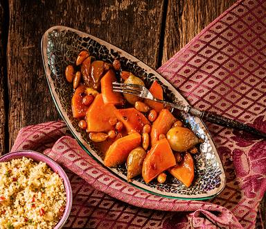 Aromatic Butternut and Mushroom Tagine