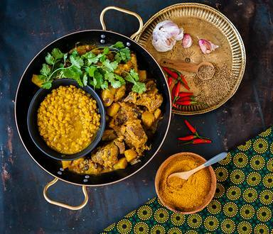 Mutton Curry with Dhal