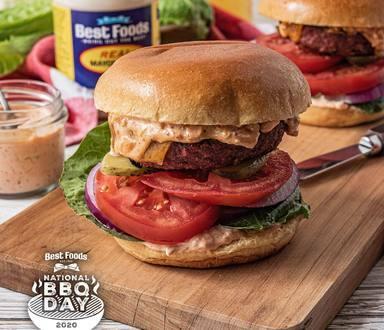 BBQ Bulgogi Burgers with Kimchi Mayo