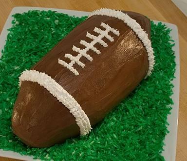 Gâteau de Crème Glacée en Ballon de Football