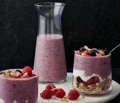 Very Berry Loaded Breakfast Jars