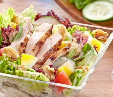 Grilled Chicken Salad With BBQ-Mayo Dressing