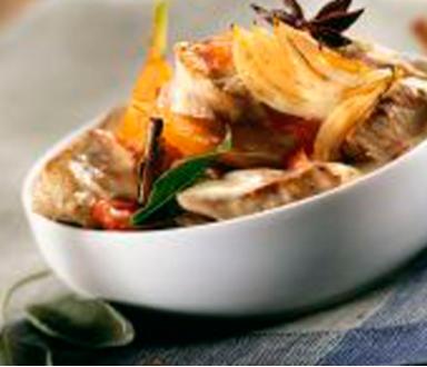 Sauté de veau à l'orange et aux épices