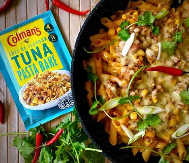 SPICY TUNA PASTA BAKE
