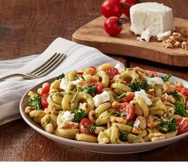 Roasted Garlic Pesto, Broccolini & White Beans