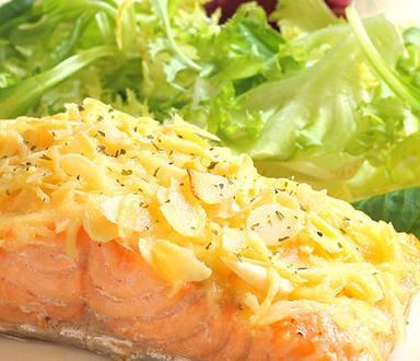 Mayo Parmesan Crusted Salmon