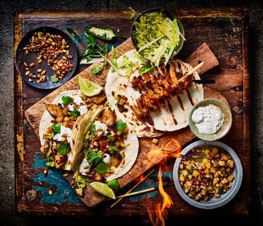 Grilled chikken taco's