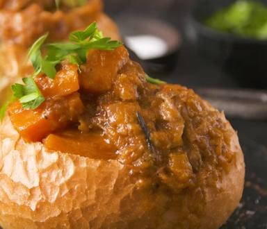 Saucy Lamb Curry Bread Bowls