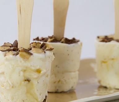 Caramel Toffee Vanilla Ice Cream Pops