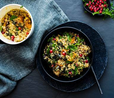 Chilli Roasted Butternut and Quinoa Salad