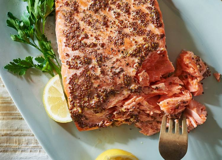 Mustard-Coated Salmon