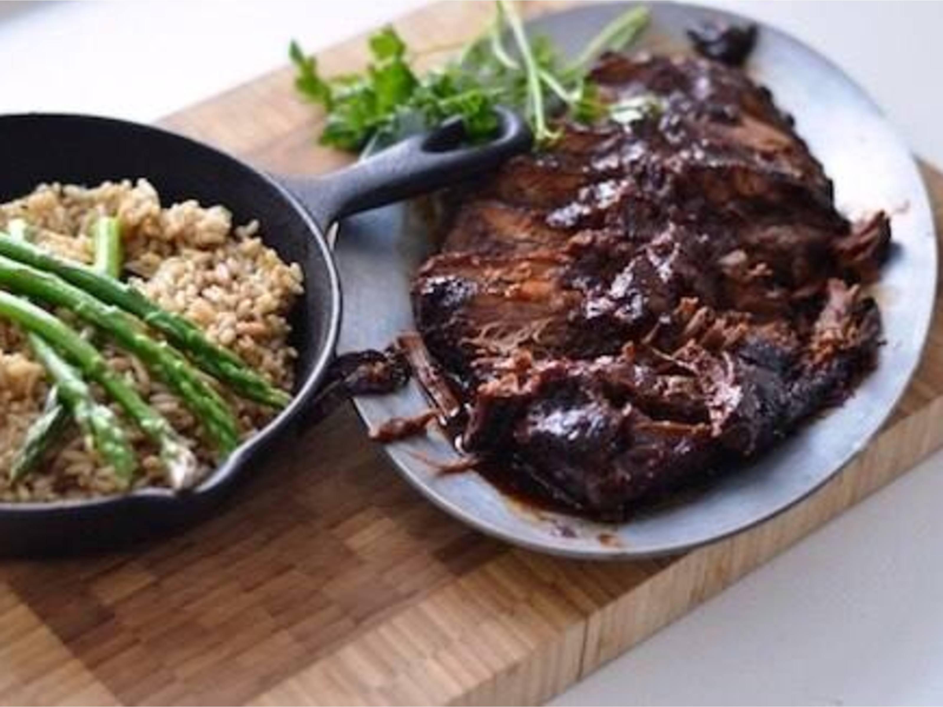 Savory Beef Brisket with Mushroom Rice